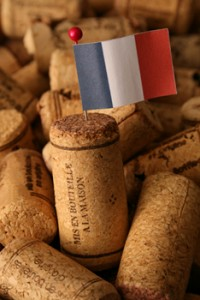 french flag with corks