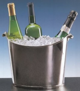 white wines in a bucket