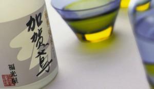 sake bottle and glass