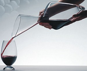 decanter and wine