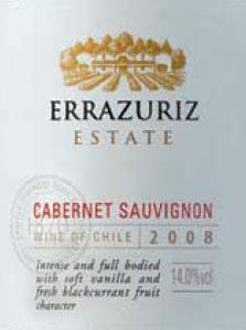 errazuriz 2008 cabernet sauvignon