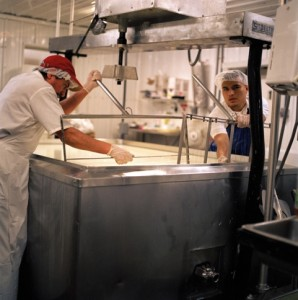 Cheese vats at Sweet Grass Dairy