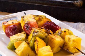 grilled fruit skewers