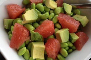 Edamame Salad with Grapefruit and Avocado