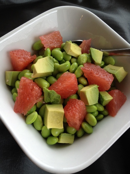 Edamame Salad with Grapefruit and Avocado