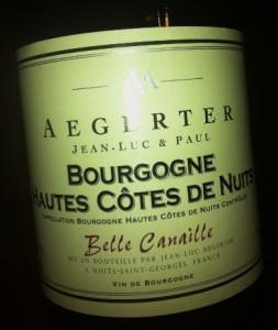 Aegerter Hautes Cotes de Nuits Bourgogne