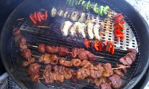 Kabobs on the barby!