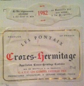 1982 Les Pontaix Crozes Hermitage