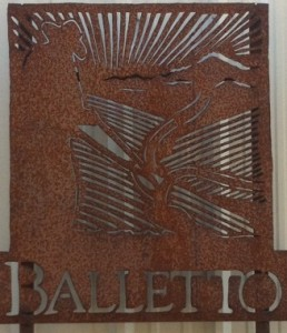 Balletto Vineyards Entry Sign