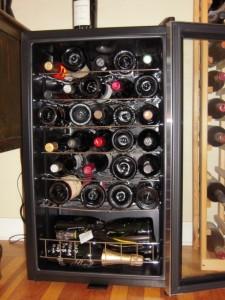 Full wine fridge