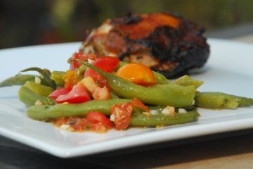 Green beans with tomato vinaigrette