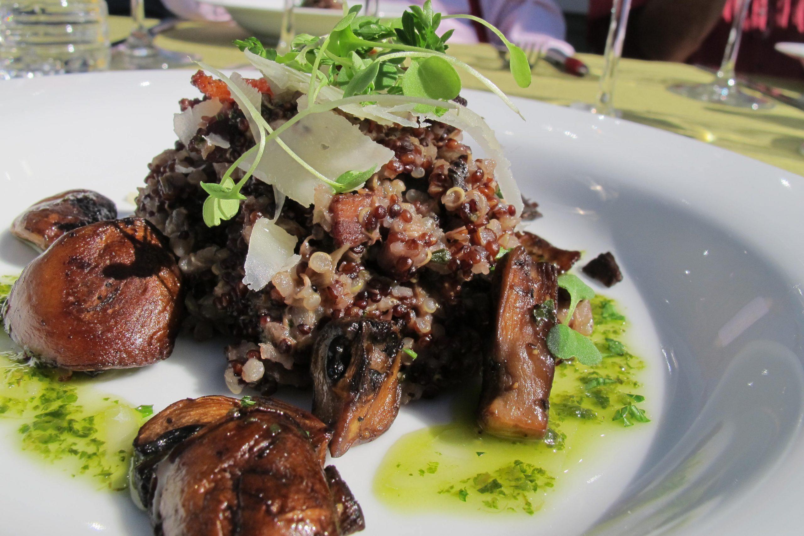 Quinoa Mushroom Risotto