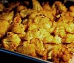 Roasted curry cauliflower