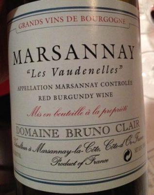 Bruno Clair 2010 Marsannay