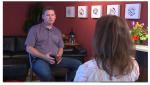Winemaker Mark Beringer being interviewed