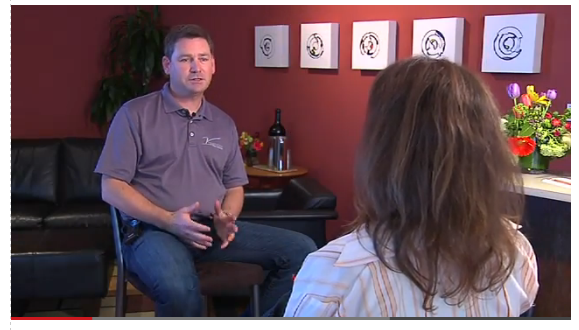 Winemaker Mark Beringer being interviewed