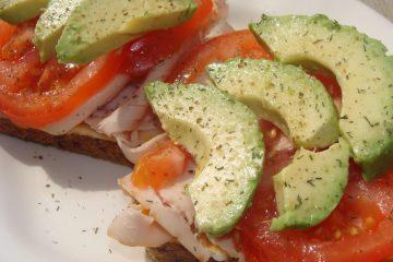 Turkey Sandwich with Avocado and Tomato