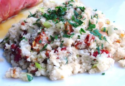 Caulflower Cous Cous with Bacon