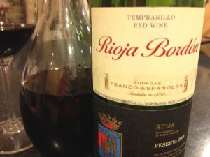 Franco Espanolas Rioja Bordon