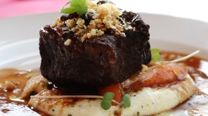 Braised shortrib prepared by Chef Lance Carlini at Mireflores Winery