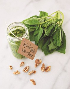 Spinach Basil Walnut Pesto
