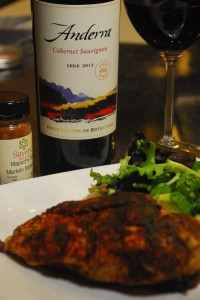 Anderra 2012 Cabernet and Grilled Chicken