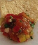 Easy heirloom tomato salsa