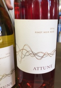 Attune 2014 Rose and 2013 Chardonnay