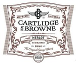 Cartlidge and Brown 2013 Merlot Label