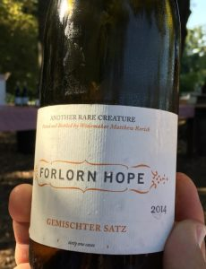 Lodi white wine from Forlorn Hope