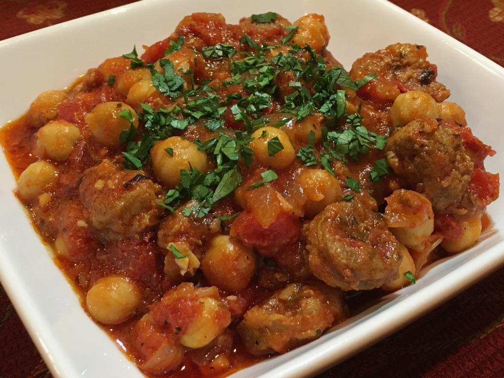 sausage-and-garbanzo-stew