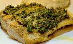 Mahi with lemon caper sauce